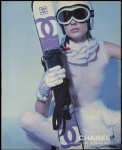 CHANEL first original skiwear ad with ski goggles from year 2000 © CHANEL