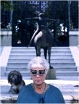 Peggy Guggenheim with Edward Melcarth butterfly sunglasses