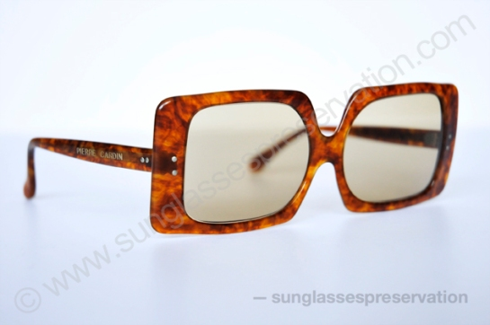 PIERRE CARDIN rectangular shades 60s © sunglassespreservation