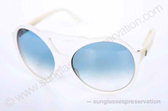 PIERRE CARDIN white pilot 350 42 70s © sunglassespreservation
